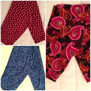 3 pairs of Lularoe leggings